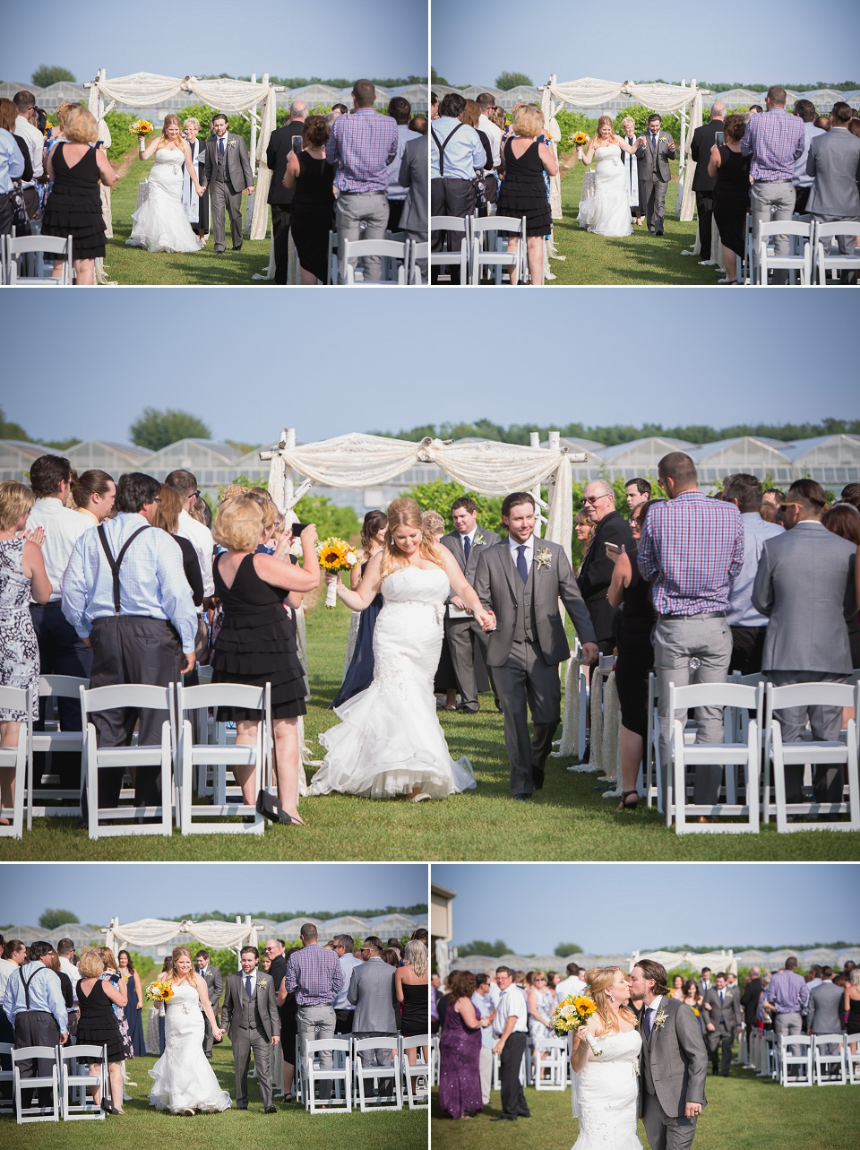 wedding ceremony at mastronardi estate winery