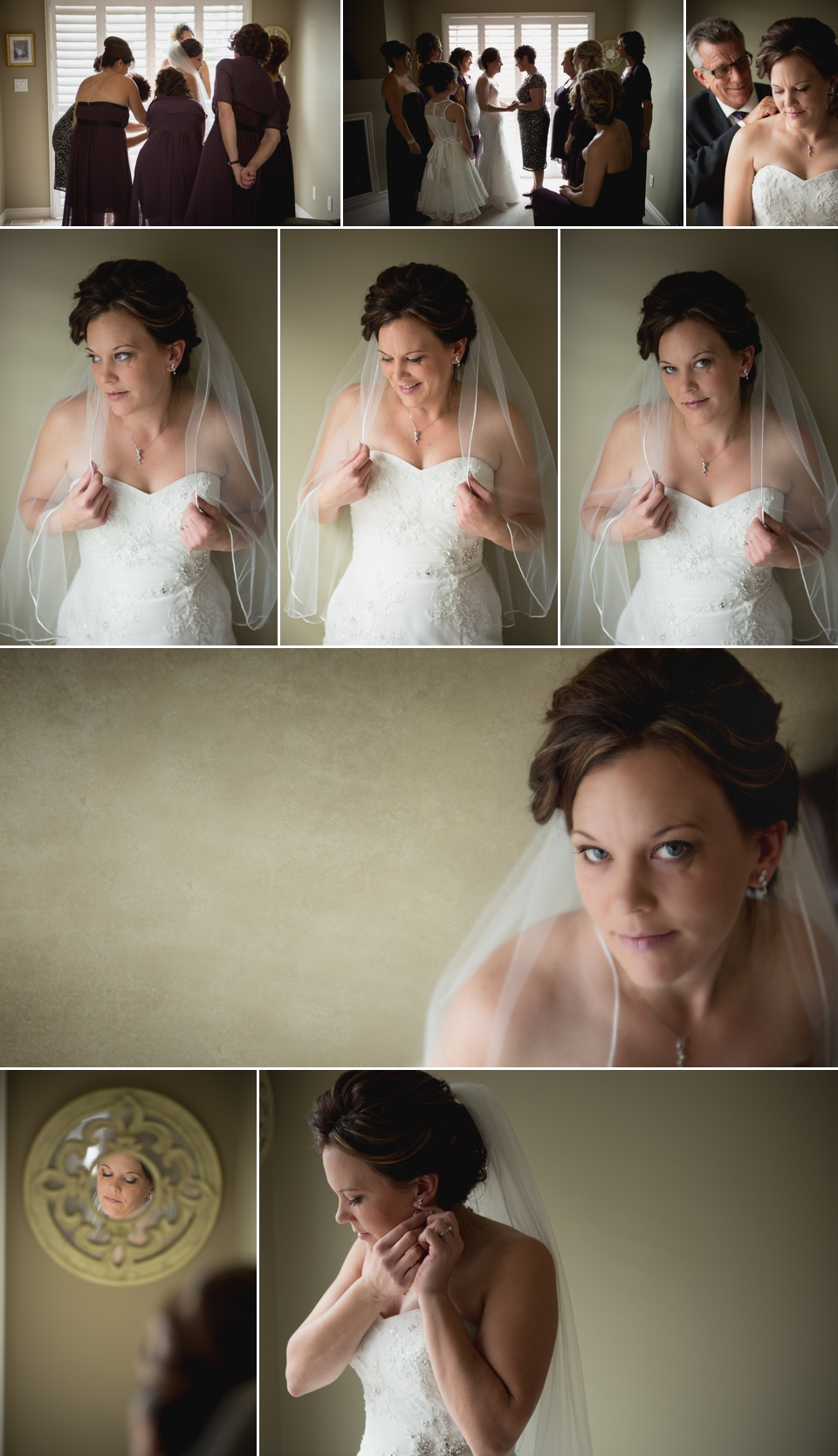 bride getting ready leamington wedding photographer