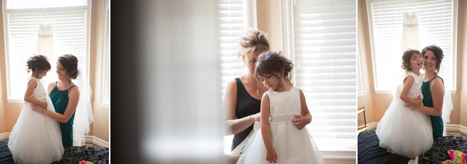 bride and flower girl leamington wedding photographer
